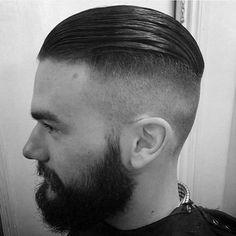 40 Slicked Back Undercut Haircuts for Men – Manly Hairstyles - Tattoo Style Slick Back Undercut, Slick Back Haircut, Undercut Men, Slicked Back Hair, Undercut Pompadour, Disconnected Undercut, Slick Hairstyles, Top Hairstyles, Undercut Hairstyles