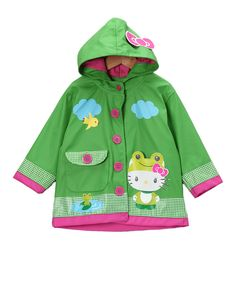 This is super cute for my baby girl! :) {Green Hello Kitty Froggy Raincoat - Toddler & Kids by Western Chief} Cute Outfits For Kids, Cute Kids, Cute Babies, Baby Kids, Toddler Girls, Big Baby, Cheap Raincoats, Raincoats For Women, Hello Kitty
