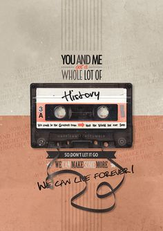 Not sure about the text itself but I love the typography, layout, and color scheme.  Made In the A.M. Lyric Posters →·History