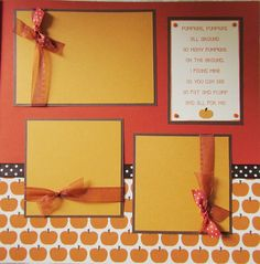 the PUMPKIN PATCH 12x12 premade scrapbook pages by JourneysOfJoy, $14.50