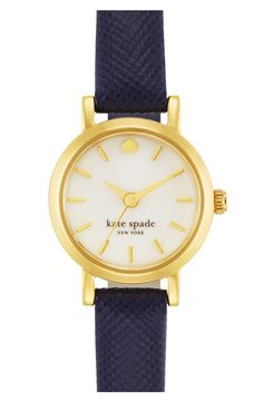Navy and gold are a match made in accessory heaven. This preppy embossed leather strap watch is perfect for the 4th of July...and every day after!