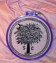 All #ADD #people should #create #things.  Keeping my #hands busy allows my #mind to #focus and #hearing things more #clearly.  #Free-hand #embroidery has become my #favorite #relaxing #pastime.