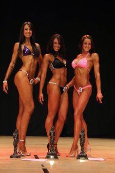 On stage at UKBFF southcoast bikini fitness tall Class