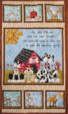 Why? quilted panel, by Leanne Anderson, Baby Quilt, Quilted Panel, Shower,Comforter, Crib Blanket, Wall hanging, B-50