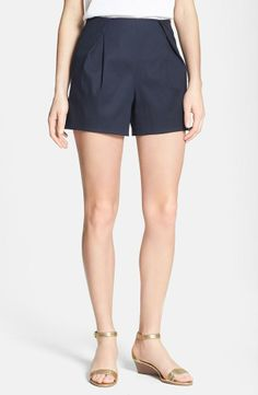 Cute and nautical! Front pleat shorts by Tory Burch.