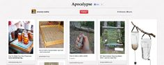 Preserves and weaving stations are a must. | How Pinterest Users Are Preparing For The Impending Apocalypse