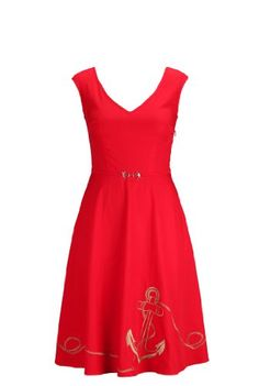 eShakti Women's Nautical anchor embellished dress S-4 Regular Formula one red/gold eShakti,http://www.amazon.com/dp/B00IRA9RN6/ref=cm_sw_r_pi_dp_uFgjtb0ZMGWJT995