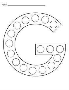 Uppercase Letter G Do-A-Dot Printable