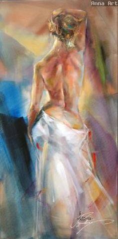 Toward the Sunrise Oil Painting by Anna Razumovskaya