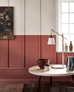 Awesome Useful Tips: Modern Wainscoting Stairs wainscoting full wall decor.Wainscoting Corners Home. Red Interiors, Colorful Interiors, Hotel Interiors, Modern Interiors, Interior Walls, Interior And Exterior, Color Interior, Colour Blocking Interior, Luxury Interior