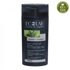 Żel pod prysznic - odświeżający - przeznaczony dla mężczyzn. Zawiera 95 % składników Man Shower, Shower Gel, Green Tea Extract, Hair Loss, Shampoo, Organic, Personal Care, Bottle, Nature