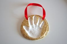 Baking Soda Clay Handprint Keepsakes
