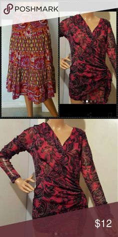 Sz Large lot paisley chic skirt and LS Both sz large 3C4G Skirts Maxi