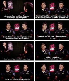 Jonah and Channing messing around