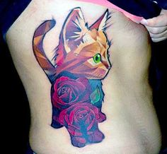 unique Geometric Tattoo - unique Geometric Tattoo - 65 Amazing Cat Tattoo Designs | Pictures of Cats, Cat ...