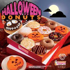No es una Halloween party si no hay spooky Dunkin' Donuts. #halloween #spooky #boo