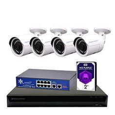 Morphxstar NVR POE Bullet Camera System Home Security Surveillance Security Camera System, Security Surveillance, Security Alarm, Surveillance System, System Camera, Bullet Camera, Ip Camera, Home Monitoring System, Alarm Monitoring