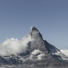 View of the Matterhorn's peak, the symbol of Switzerland. Zermatt, Switzerland, Mount Everest, Mountains, Beautiful, Instagram, Bergen