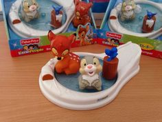 Fisher Price Little People Disney Bambi And Thumper Set New UK