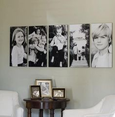Composição com fotos na parede.....