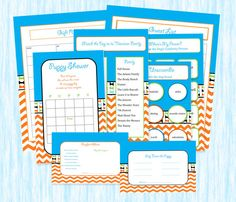 Puppy Shower Game Package for Puppy Party in blue by mommyactually
