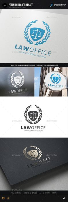 Law Office Logo Template #design #logotype Download: http://graphicriver.net/item/law-office-logo/11990790?ref=ksioks