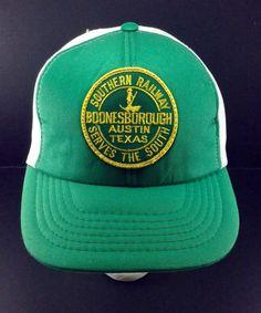 VTG-RARE 1970s Southern Railway Railroad Trucker Hat Boonesborough Austin Texas #Trucker