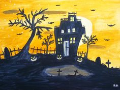 Halloween+original+watercolor+painting+14+x+10+inch+by+artbymonika,+£20.00
