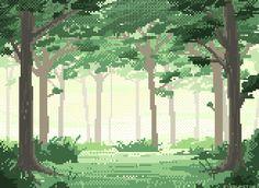 I love pixel art, & in particular pixel art landscapes!!!
