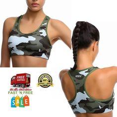 Women Sport Bra Fitness Gym Fashion Camouflage Soft Fabric Moisture Control Dry #2Fitness
