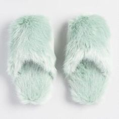 Keep your feet warm and cozy with our jadeite-green faux fur slippers. These luxurious slip-ons make a perfect gift, but they're so comfy you might want to keep a pair for yourself. Grey Slippers, Cute Slippers, Slipper Socks, Girls Fashion Clothes, Fur Boots, Doll Clothes Patterns, Womens Slippers, Warm And Cozy, Faux Fur