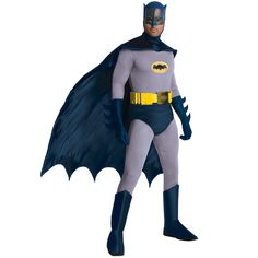 Buy old fashion, classic Batman costumes for sale. Old school traditional grey suited Batman from the DC comics or television show. Adult Men Plus Sizes.