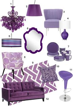 Purple Home Furnishings
