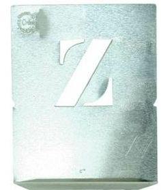 Alle letters van het alfabet. 26 metalen sjablonen 25 bij 25 mm