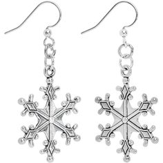 Fancy Winter Snowflake Dangle Earrings | Body Candy Body Jewelry #bodycandy
