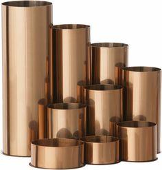Copper pencil pot | Ferm Living