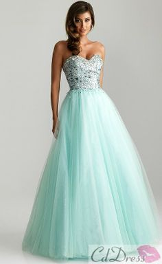 A line Sweetheart Satin and Tulle with Beading Prom Dresses