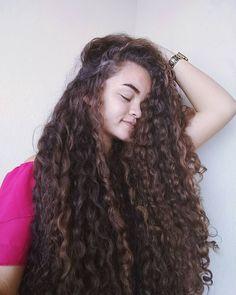 Long Natural Hair, Very Long Hair, 3b Hair Type, Curly Hair Styles, Natural Hair Styles, Long Curls, Permed Hairstyles, Beautiful Long Hair, Big Hair