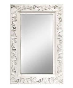 Another great find on #zulily! White Butterfly Distressed Mirror #zulilyfinds