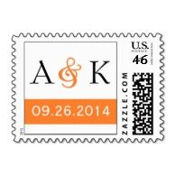 Large selection of fall #wedding stamps  This was custom designed using their wedding colors and font.   Custom designs from www.perfectpostage.com  Repinned by Annie @ www.perfectpostage.com
