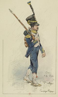 French; 1st Light Infantry, Voltigeur in Spain by E.Fort