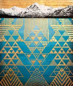 Krishna Aoraki, Landscape + Nature | Sofia Minson Artist Artwork Prints, Fine Art Prints, Maori Patterns, Zealand Tattoo, Polynesian Art, Geometric Symbols, Maori Designs, New Zealand Art, Nz Art