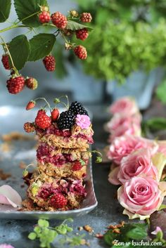 Kisiel z pomarańczy - Zen w kuchni Pavlova, Cheesecakes, Blackberry, Raspberry, Cupcakes, Food Presentation, Kimchi, Feta, Muffins