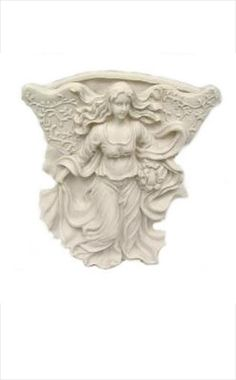 Angel Flower Wall Vase Beautiful ...and hard to find angel flower vase for your wall. Would look so good with a pretty vine growing from it!