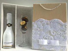 Caixa Noiva Convite Padrinhos Casamento