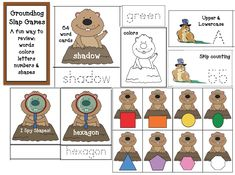 "Groundhog Activities: FREE page ""slappin' games"" with a groundhog theme. Helps practice & reinforce a variety of standards. Kindergarten Groundhog Day, Groundhog Day Activities, Word Work Activities, Alphabet Activities, Classroom Activities, Preschool Printables, Teacher Freebies, Classroom Freebies, Classroom Ideas"