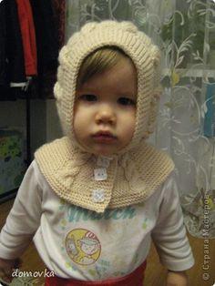 Вязание спицами - МК по вязанию шапки-шлема для девочки