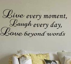 LIVE LAUGH LOVE WALL ART QUOTE STICKER