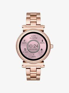 0a5abfa9c792 Michael Kors Sofie Pave Rose Gold-Tone Smartwatch Set Smartwatch