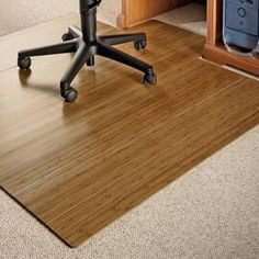 Bamboo Office Chair Mat: So Much Nicer Than Those Plastic Floor Sheets To  Protect Floors U0026 Make Your Chair Easy To Roll.